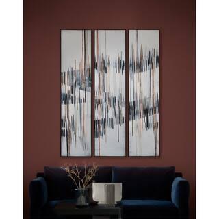 Renwil Yvon Dark Brown Framed Canvas Art