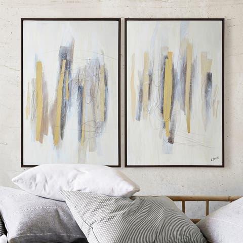 Strick & Bolton Framed Brown Canvas Art
