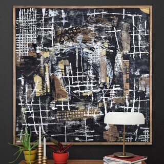 Carbon Loft Dark Brown Framed Canvas Art
