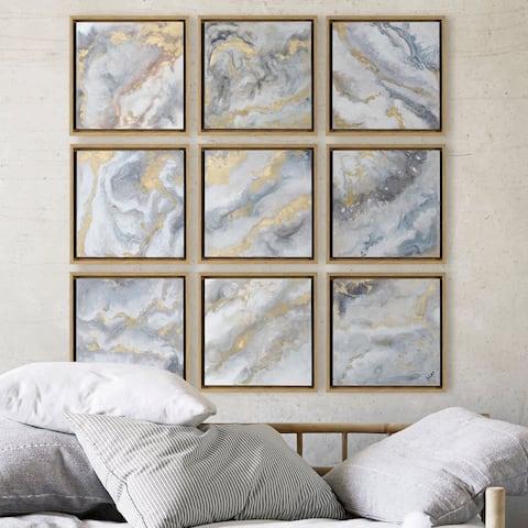 Strick & Bolton Yellow Woodgrain Framed Alternative Wall Decor