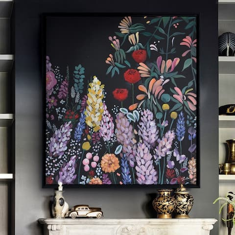 Renwil Wardley Black Canvas Framed Art