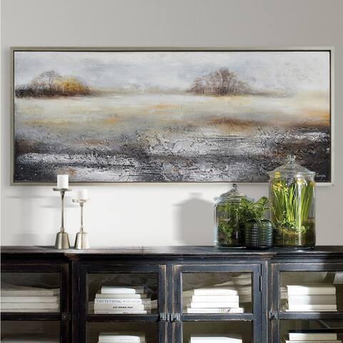 Strick & Bolton Framed Silver Canvas Art