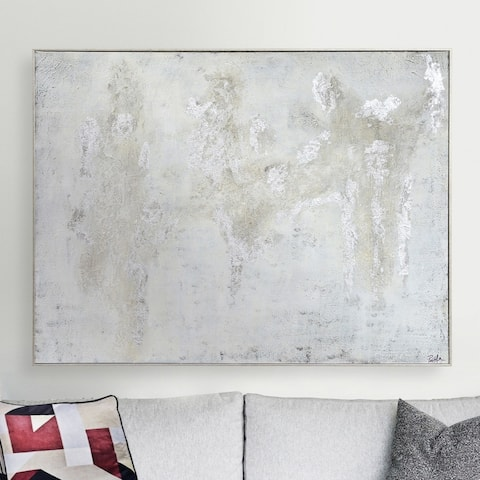 Renwil Devonshire Silvertone Canvas Framed Hand-painted Abstract Wall Art