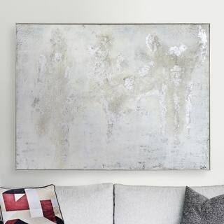 Strick & Bolton Hand-painted Silvertone Canvas Art