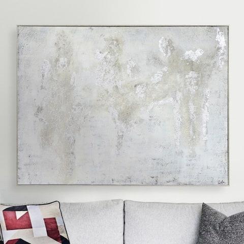 Strick & Bolton Hand-painted Silvertone Canvas Art