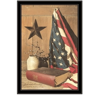 """""""God and Country"""" by Billy Jacobs, Ready to Hang Framed Print, Black Frame"""