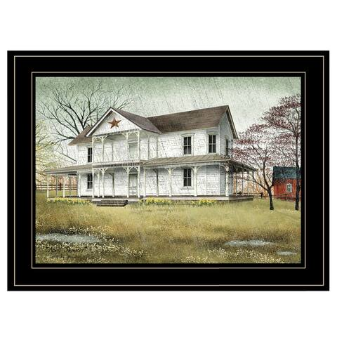 """""""April Showers"""" by Billy Jacobs, Ready to Hang Framed Print, Black Frame"""
