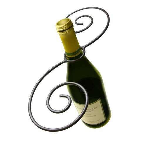 Swirl Wine Bottle And Glass Holder