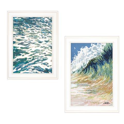 """""""Big Wave"""" 2-Piece Vignette by Margaret Juul, White Frame"""