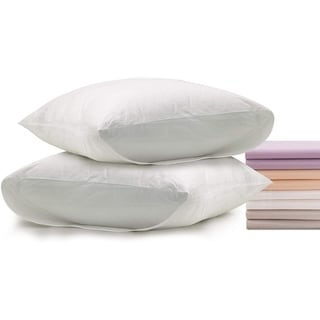 Superior Linen Pillow Cases Envelope Style Cotton Cover Standard Size 2pack