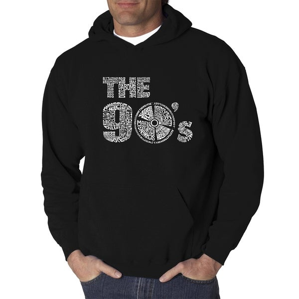 Mens Word Art Hooded Sweatshirt - 90S - LA Pop Art