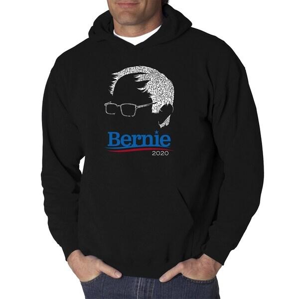 Mens Word Art Hooded Sweatshirt - BERNIE - LA Pop Art