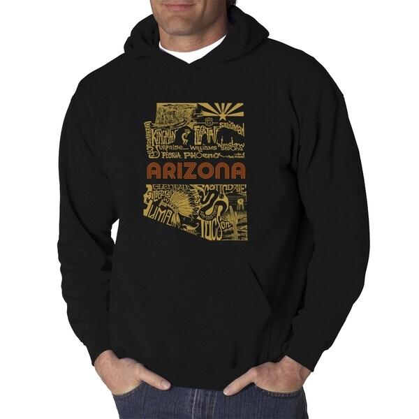 Mens Word Art Hooded Sweatshirt - Az Pics - LA Pop Art