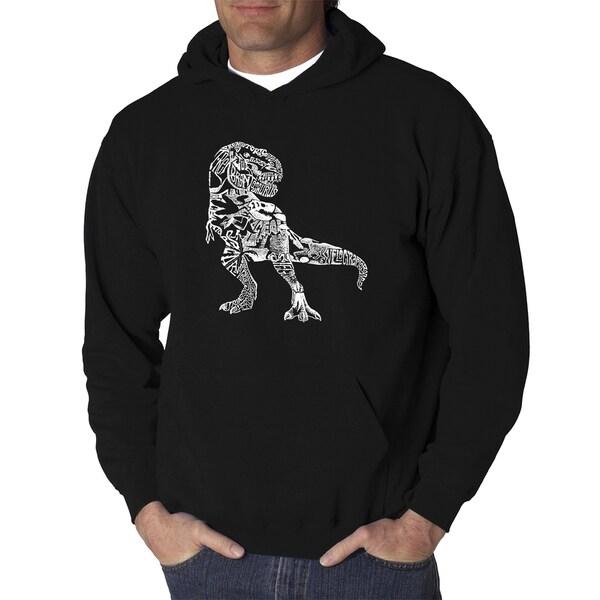 Mens Word Art Hooded Sweatshirt - Dino Pics - LA Pop Art