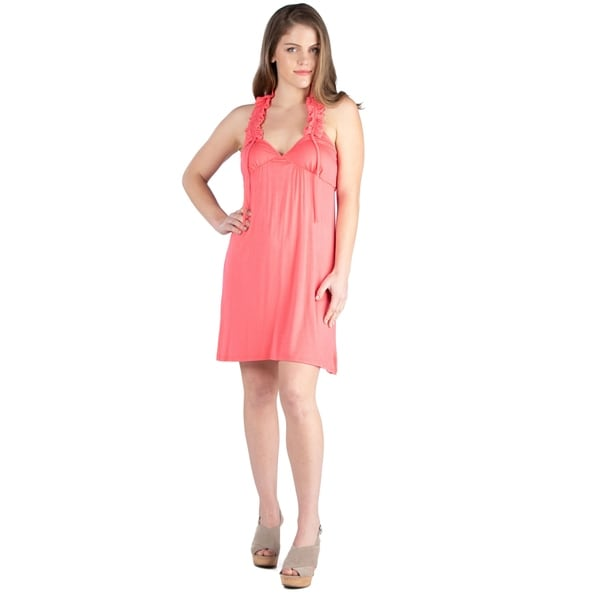 Shop 24seven Comfort Apparel Women S Ruffle Knee Length