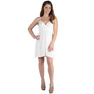 24seven Comfort Apparel Women's Spaghetti Strap Mini Summer Dress