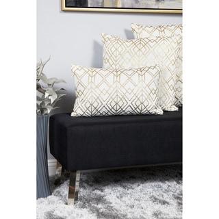 Silver Orchid Negri Decorative Geometric Throw Pillow