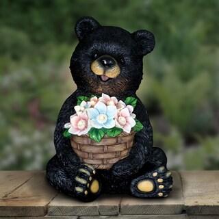 Solar Bear with Flower Basket