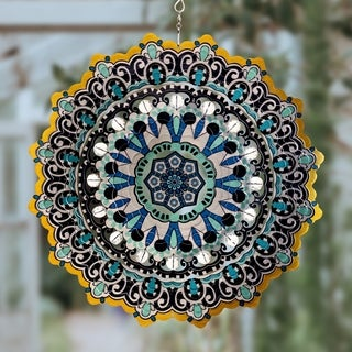 12 Inch Laser Cut Hanging Spinner with Beads