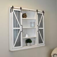 FirsTime & Co. Wynne Barn Door White Wood Cabinet