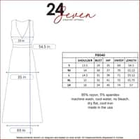 24seven Comfort Apparel Women's Sleeveless Empire Waist Maxi Dress