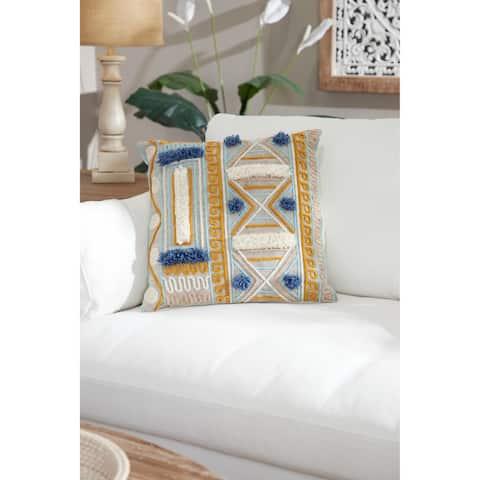 Decorative Throw Pillow w/ Boho Pattern