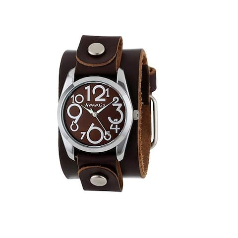 Nemesis Brown ShowGirl Watch with Junior Size Brown Leather Cuff Band BGB109B