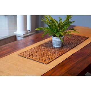 Exotic Wood Roosevelt Table Runner, Handmade, Brown