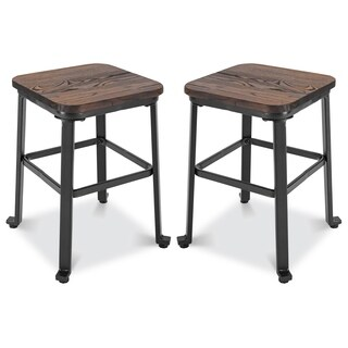 Poly and Bark Dominick Dining Stool in Walnut (Set of 2)