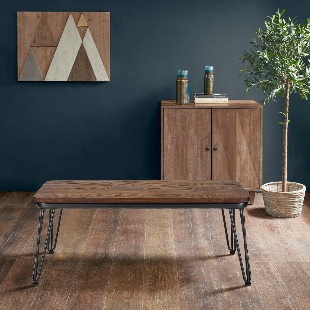 Walnut Poly and Bark Kira Bench