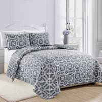 Travino Geometric Printed 3-piece Quilt Set