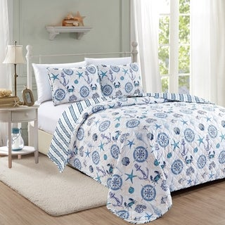 Link to Azure Coastal Collection 3 Piece Quilt Set Similar Items in Quilts & Coverlets