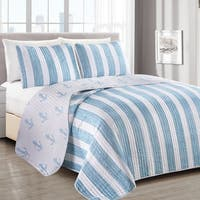 Casco Bay Coastal Collection 3 Piece Quilt Set