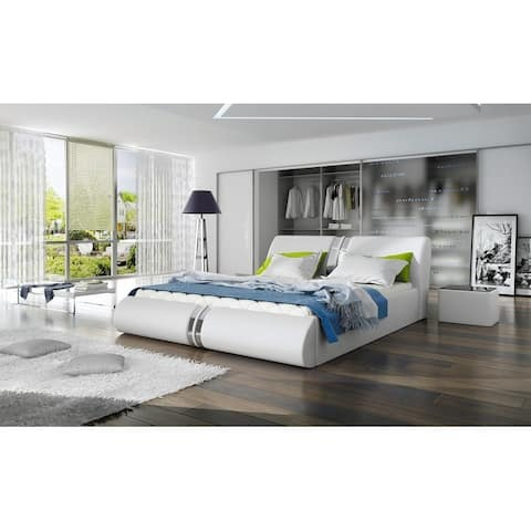Cristo Platform Bed European Queen Size with mattress 62.9 x 78.7 inch