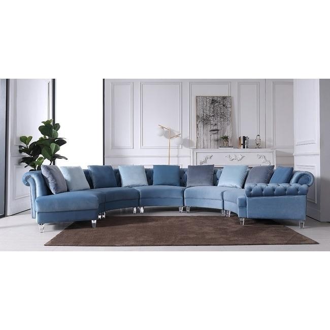 Divani Casa Darla Modern Blue