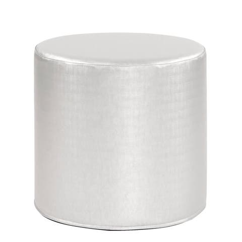No Tip Cylinder Ottoman with Cover, Luxe Collection