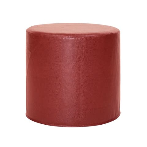 No Tip Cylinder Ottoman with Cover, Glam Collection