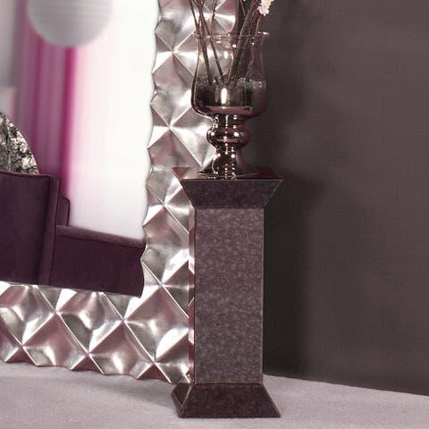 Atlas Grey Antiqued Mirrored Pedestal