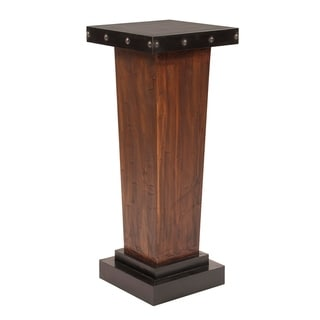 Link to Tapered Rustic Wood Pedestal with Iron Accents Similar Items in Living Room Furniture