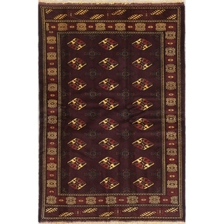 "Balouch Geometric Hand-Knotted Wool Persian Oriental Area Rug - 6'3"" x 4'3"""
