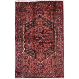 "Hamedan Geometric Hand-Knotted Wool Persian Oriental Area Rug - 6'11"" x 4'5"""