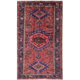 "Hamedan Tribal Geometric Hand-Knotted Wool Persian Oriental Area Rug - 7'4"" x 4'2"""