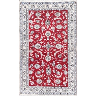 """Nain Floral Hand-Knotted Wool Persian Oriental Area Rug - 6'7"""" x 4'0"""""""