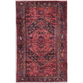 "Hamedan Tribal Geometric Hand-Knotted Wool Persian Oriental Area Rug - 7'0"" x 4'4"""