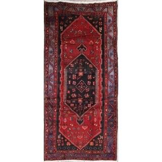 "Hamedan Tribal Geometric Hand-Knotted Wool Persian Oriental Area Rug - 8'8"" x 4'9"""