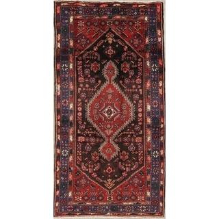 "Hamedan Tribal Geometric Hand-Knotted Wool Persian Oriental Area Rug - 9'0"" x 4'7"""