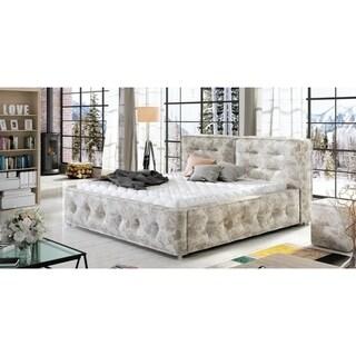 Telia Platform Bed European King Size with mattress  72.04 x 79.9 inch