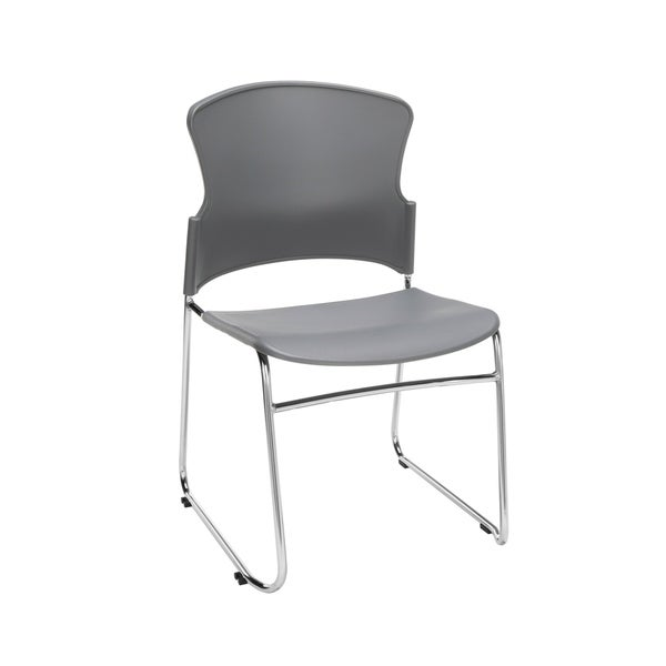 OFM Core Collection Multi-Use Plastic Stack Chair, Pack of 4 (310-P-4PK)