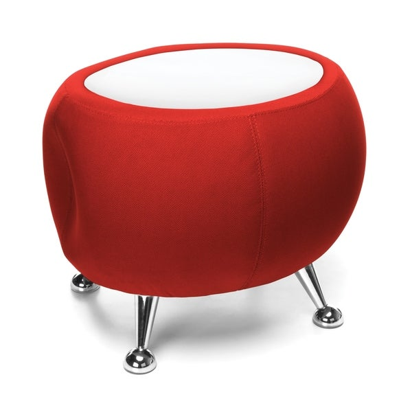 OFM Jupiter Series Fabric Ball Stool with White Table Top (2001T)