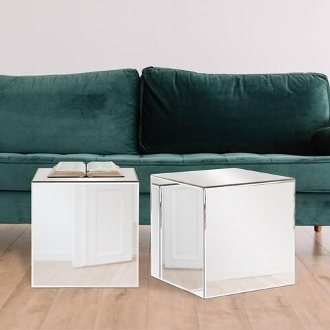 Silver Orchid Barrett Cube Table - 16 x 16 x 16